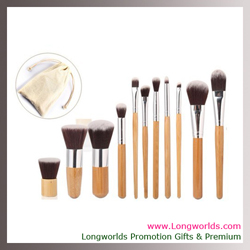 bo co trang diem 11 mon qua tang phu nu cao cap 11 pcs  set professional soft cosmetic makeup brushes Eyeshadow Concealer Brush Set Kit Shipping foundation rope tie make up bag
